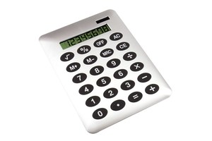 "8-digit calculator ""Buddy"" in a DIN A4 format with dual power"